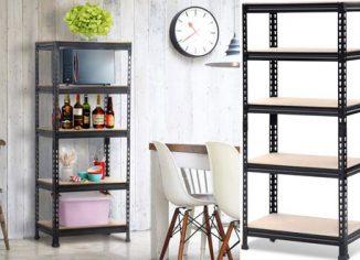 Yaheetech Adjustable 5-Shelf Shelving Unit Storage Rack Shelves