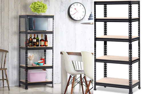 Yaheetech Adjustable 5-Shelf Shelving Unit Storage Rack Shelves