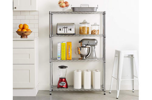 AmazonBasics 4-Tier Wire Storage Shelves Rack