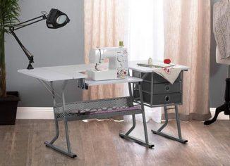 Craft & Hobby Essentials Machine Platform Table with Drawers