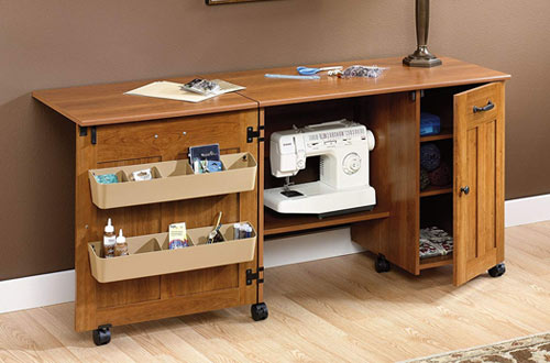 Mainstay Folding Sewing Table & Craft Center Table