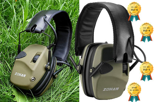 Zohan Electronic Noise Reduction Hunting Earmuff