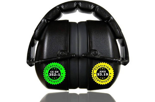 ClearArmor Shooters Hearing Protection Safety Earmuffs