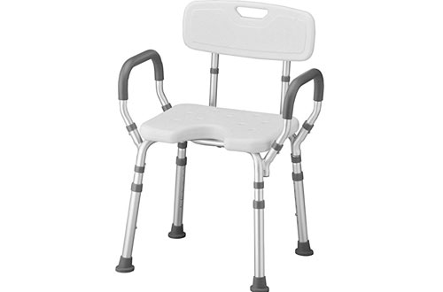 NOVA Lightweight Shower & Bath Chair with Back & Arms for Camping