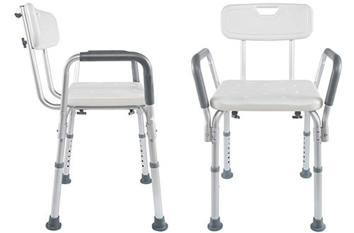 Vaunn Medical Adjustable Shower Chairs with Arms