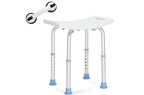 OasisSpace Medical Bath Stool with Free Assist Grab Bar