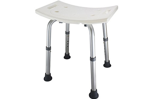 Ez2care Adjustable Lightweight Shower with Bench