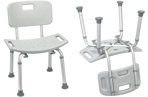 Drive Medical Safety Shower Bench Chair with Back