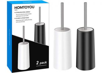 HOMTOYOU Stainless Steel Toilet Brushes