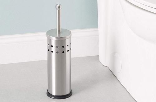 Home Basics Vented Stainless Steel Toilet Holder