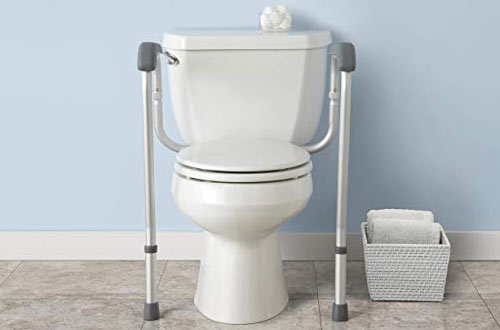 Medline Toilet Safety Rails & Safety Frame for Toilet for Bathroom Safety
