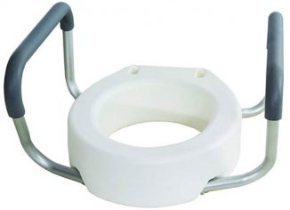 Essential Medical Toilet Seat Riser with Removable Arms