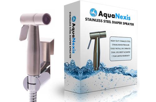 Aqua NexisPremium Stainless Steel Handheld Bidet Toilet Sprayer