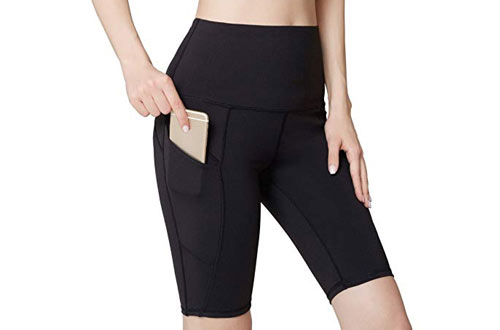 Oalka Women's High Waist Workout Running Shorts