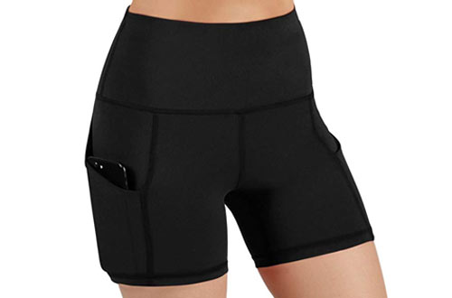 ODODOS High Waist Yoga Shorts for Workout Running Athletic