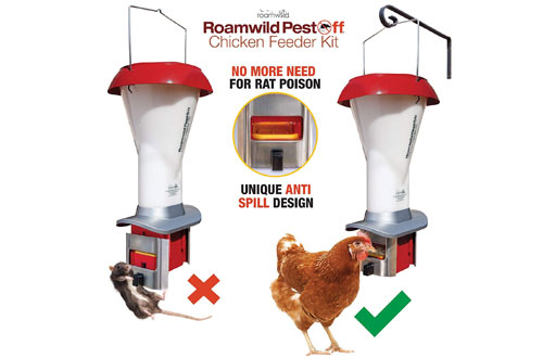 Roamwild Waterproof Ratproof Chicken Feeder