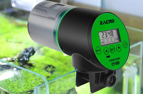Zacro Rechargeable Timer Automatic Fish Feeders for Aquarium & Fish Tank