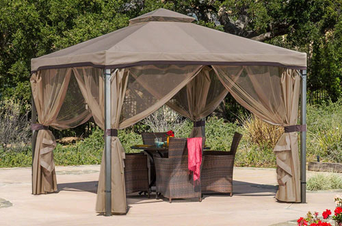 Christopher Knight Home Canopy Gazebos with Mosquito Netting and Shade Curtains