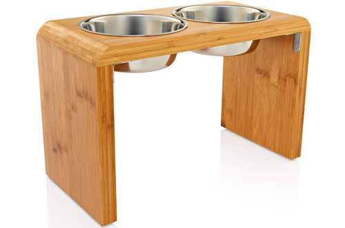 Pawfect PetsLarge Elevated Dog & Pet Feeder -Raised Food & Water Stand