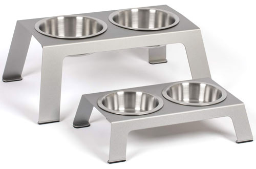 PetFusion Stainless Steel Raised Dog & Cat Bowl Stand
