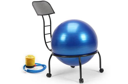 Balance Ball Posture Chair Exercise -Yoga Ball Chair with Wheels