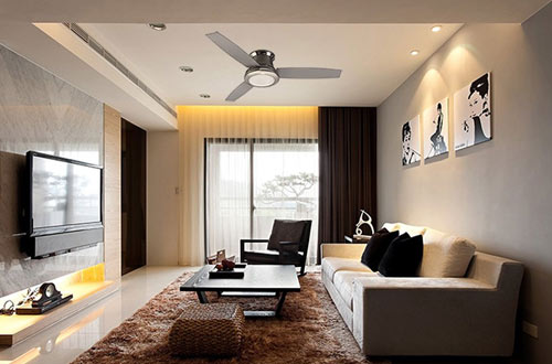 Harbor Breeze Flush Mount Ceiling Fan with Light Kit and Remote