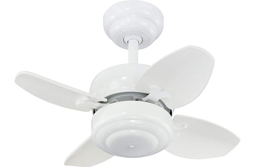 Monte Carlo Mini Ceiling Fan with Pull Chain for Small Space