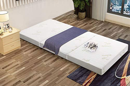 Milliard Tri Folding Mattress with Removable Bamboo Cover
