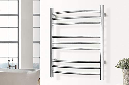 WarmlyYours Riviera Polished Stainless Steel Heated Towel Racks