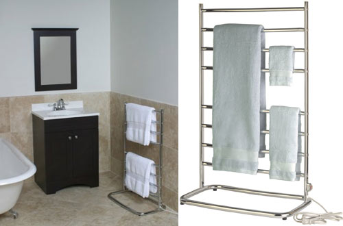 Warmrails WHC Hyde Bathroom Floor Standing Towel Warmer