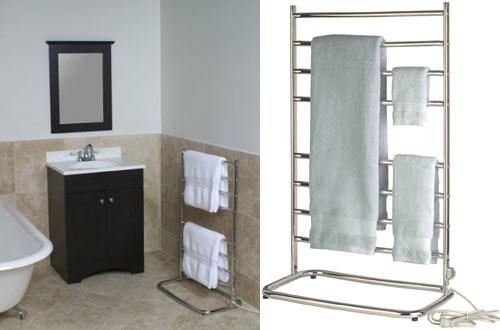 Warmrails WHC Hyde BathroomFloor Standing Towel Warmer