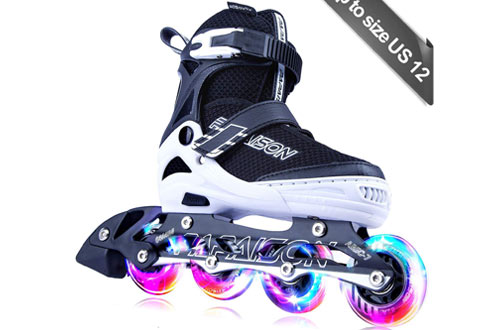 PAPAISON Adjustable Inline Skates for Men and Women