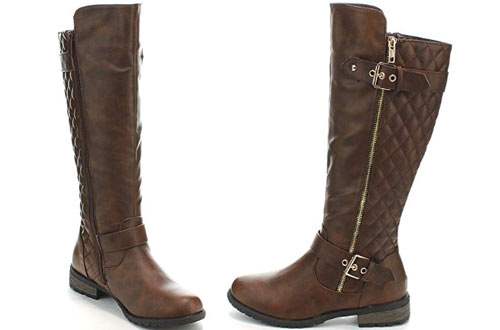 Forever Link Mango-21 Lady Leather Knee Hight Boots