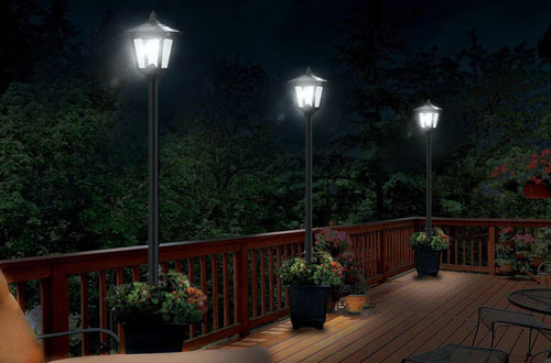 Solar Powered Vintage Street Lights for Lawn