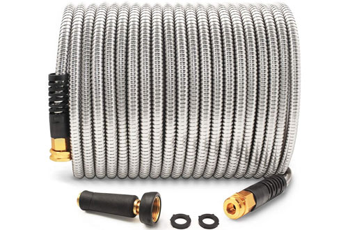 Cesun 304 Stainless Steel 50 Feet Metal Garden Hoses