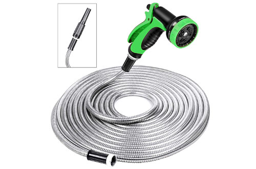 SPECILITE Stainless Steel Metal Water Hoses with Spray Nozzle