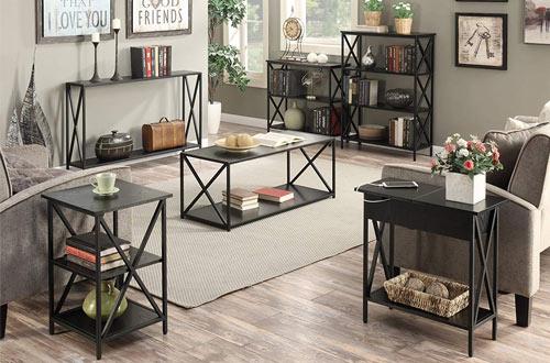 Narrow Side Tables withShelf Storage