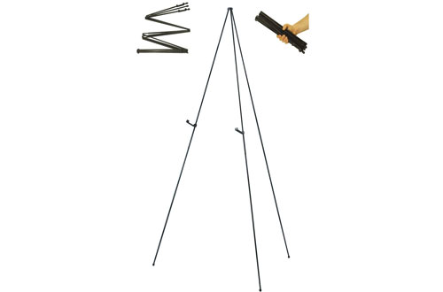 "US Art Supply"" Easy-Folding Easel"" Black Steel 63-Inch Tall Display Easel"