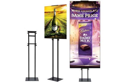 HUAZI Floor Poster Stand - Pedestal Sign Holder for Board and Foam