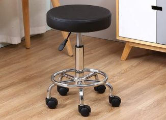 KKTONER PU Leather Rolling Stools - Office Massage Stools
