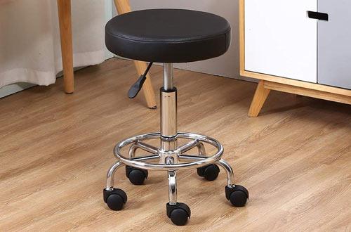 KKTONER PU Leather Rolling Stools -Office Massage Stools