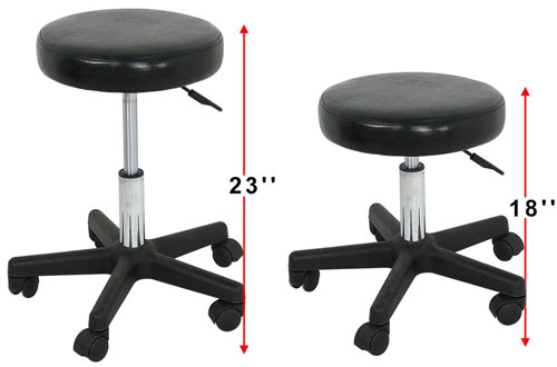 Nova Adjustable Hydraulic Rolling Salon Stool Chair with PU Leather Cushion