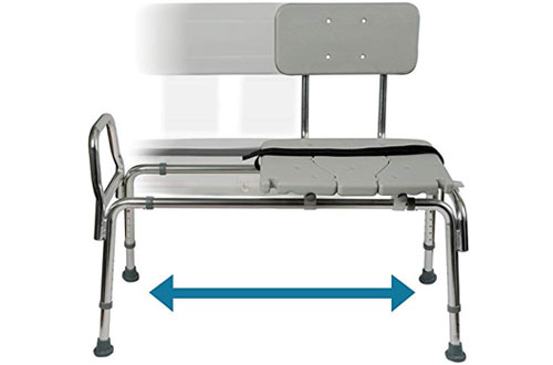 Duro-Med Tub Transfer Bench and Sliding Shower Chairwith Adjustable Seat
