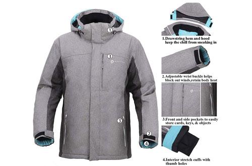 Andorra Men'sInsulated Ski Jackets with Zip-Off Hood