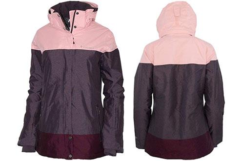 Columbia Women's Mountain Hooded Heated Ski Jacket