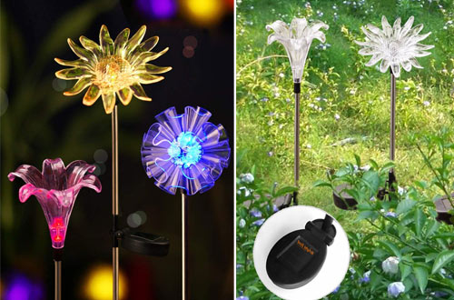BRIGHT ZEAL BZ3 LED Color Changing Solar Stake Lights Outdoor