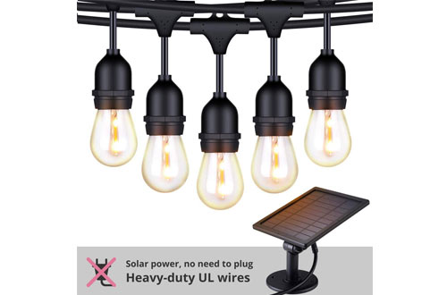 FOXLUX Solar Powered Outdoor String Lights