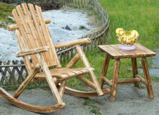 Antique Wood Outdoor Rocking Wooden Porch Rocker