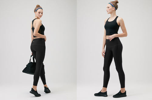 TSLA Yoga Pants Mid-Waist - High-Waist Tummy Control
