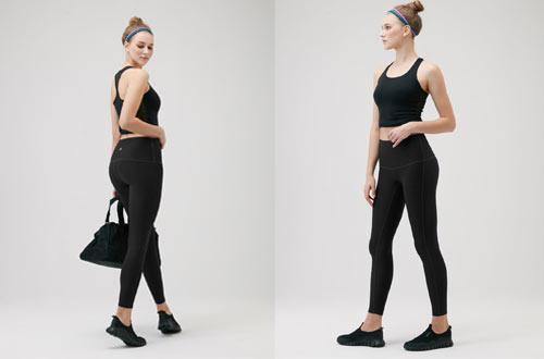 TSLA Yoga Pants Mid-Waist - High-Waist Tummy Control